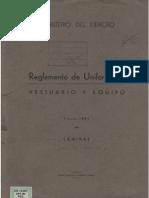Reglamento Uniformidad 1943