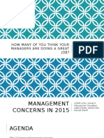 Management Concerns 2015