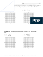 review answer key  graphingsolving rational equations test c