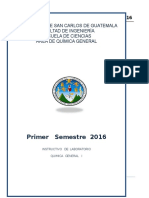 Instructivo Primer Semestre 2016 ingenieria usac