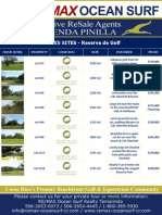 Hacienda Pinilla Lots Reserva de Golf Resales April 2010