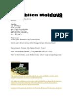 Cartea de Vizita a Republicii Moldova