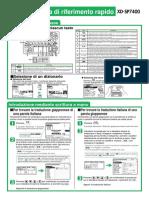 Casio XD-SP7400 manuale d'istruzione introduttivo (italiano)