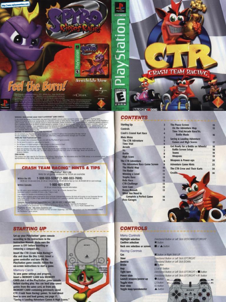 CTR Crash Team Racing - Manual - PSX