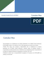 Presentación del Curriculum vitae Ismael Plascencia Nuñez