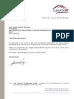 316 Carta de Agradecimiento Nombramiento. Ing. Henry Kronfle Kozhaya 2 Octubre