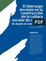 El Liderazgo Docente y La Calidad Educativa Ccesa007