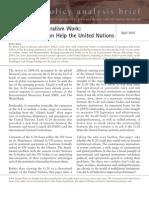 Making Multilateralism Work