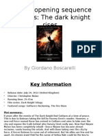 Dark Night Rises - Opening Analysis