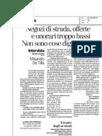 La Stampa - Inter Vista Avv. DeTilla-Tariffe Avvocati