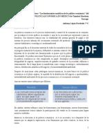 """Reporte de lectura """"Los fundamentos analíticos de la política económica"""" del libro ENSAYOS DE POLITICA ECONÓMICA EN MÉXICO de Trinidad Martínez Tarragó"""