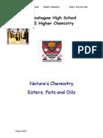 Esters Fats and Oils Pupil Notes