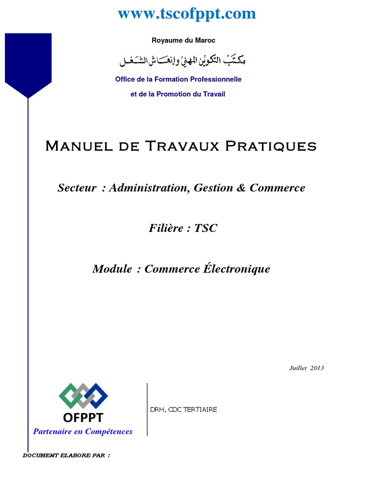 cours commerce ofppt