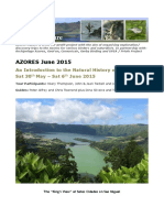 Azores Nature Trip Report June 2015