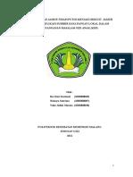 Biskuit subtitusi Jamur untuk balita Gizi  Kurang/Buruk