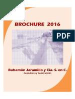 Brochure Bahamón Jaramillo 2016