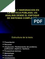 Pobreza y Marginación en la Mixteca Poblana. Un análisis desde el enfoque de Sistemas Complejos.