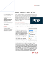 Oracle Documents Cloud Datasheet