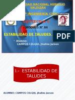 MÓDULO N° 04 - ESTABILIDAD DE TALUDES - PARTE I