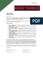 Notification Letter Stranger Things 2ndUnit