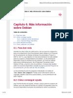 Capítulo 6. Más Información Sobre Debian