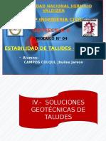 MÓDULO N° 04 - ESTABILIDAD DE TALUDES - PARTE II