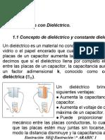 Capacitores con Dielectrico