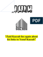 Zaid Kazzab Lies Again About His Links to Yusuf Kazzab