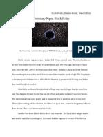 5W Black Hole Paper