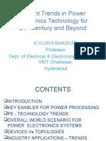 Recent Trends in Power Electronics Technology -vijaya bhaskar.pptx