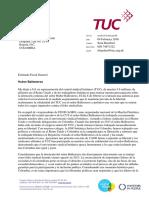 TUC Eduardo Montealegre - Huber Ballesteros Letter