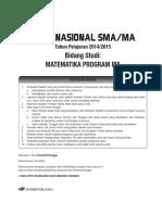 Tryout SMA Matematika IPA