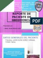 Presentación caso ortodoncia
