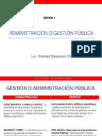 1. Admistración o Gestión Pública