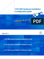 Introduction of ZTE MW Hardware Installation Guide