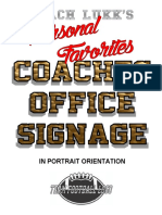 Coaching Office Signs - Coach Lukk's Personal Favorites