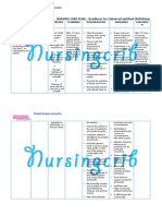 Nursing Care Plan for Readiness for Enhanced Spiritual Well Being NCP
