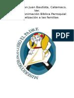 Misión evangelizadora folleto