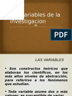 Las Variables de La Investigacion