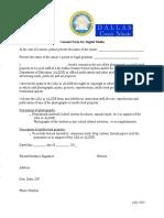 DCS Consent Form for Digital Media