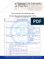 17 December 2015 - Law of the Sea and Maritime Law Status Report