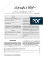 Psychometric properties of the big five inventory in a Mexican Sample