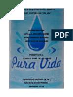 Planeacion Estrategica Empresa Aguas y Refrescos Pura Vida