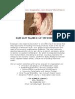 Dark Lady Players Custom Workshops