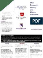 Utah Community Literacy & Writing Consortium (UCLAWC) Brochure