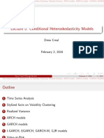 Conditional heteroskedasticity