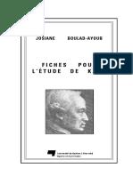 Ajoub Fiches Pour Kant