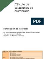 Cálculo de Instalaciones de Alumbrado