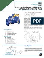 Pressure Reducing & Sustaining Valve