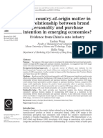 023 Does Country of Origin Matter in the Relationship Between Brand Personality and Purchase Intention in Emerging Economies